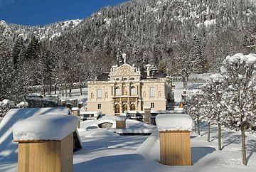Villa Im Winter Am Genfer See