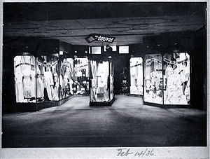 English: Lingerie sale, T. Armstrong & Co. store.