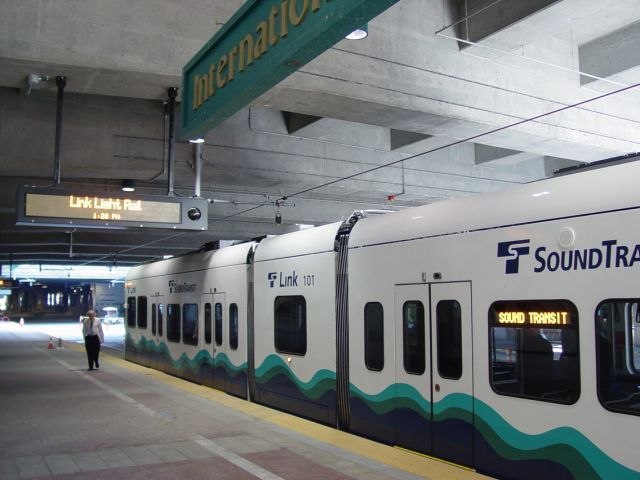 Link train at International District-Chinatown Station