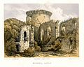 Lithograph of the ruins of Bothwell Castle by E. Walker after S. Prout.jpg