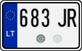 Lithuanian motorcycle license plate.png