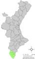 Localització de Benijófar respecte al País Valencià.png