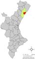 Localització de Cabanes respecte del País Valencià.png