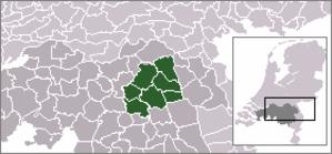 Uden-Veghel - Image: Locatie Regio Uden Veghel