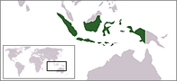 A map showing the location of Indonesia