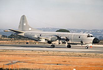 601 Squadron (Portugal) - A P-3P Orion (s/n 14802) at Faro Airport in 1994