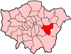 Location of the London Borough of Greenwich in Greater London