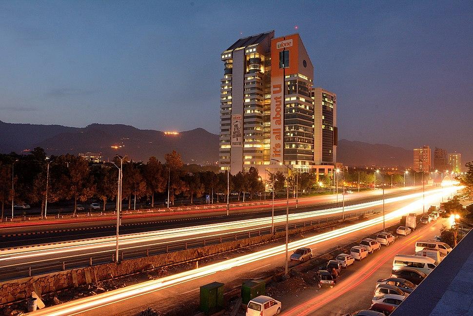 Long Exposure of Blue Area Islamabad