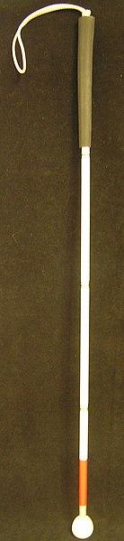 Image d'une canne longue dépliée.