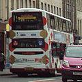 Lothian Buses bus 906 Volvo B9TL Wrightbus Eclipse Gemini SN08 BXW Harlequin livery (2).jpg
