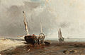 Louis Bentabole - Bateaux de pêche sur la côte à marée basse.jpg