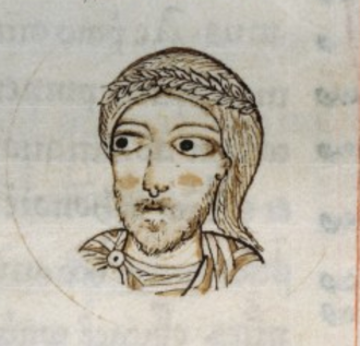 Louis II of Italy - Louis as shown in a 12th-century manuscript of Johannes Berardi's Chronicon casauriense.