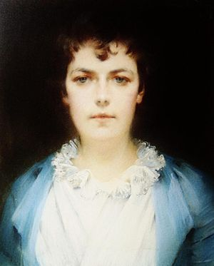 Louise De Hem - Louise De Hem: Self Portrait (1890)