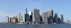 Lower Manhattan from Governors Island September 2016 panorama 1.jpg
