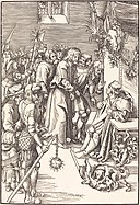 Lucas Cranach the Elder, Christ before Caiaphas, in or before 1509, NGA 37021.jpg