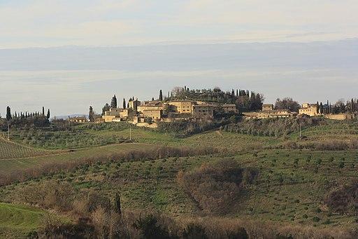 Lucignano d'Asso, Panorama