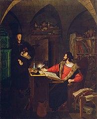 Faust und Mephisto in der Studierstube