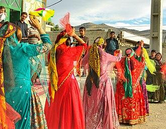 Southern Lurs - Handkerchief dancers in a wedding ceremony, Mamasani, Iran