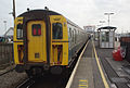 Lymington Pier railway station MMB 07 421497.jpg