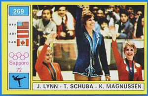 Figure skating at the 1972 Winter Olympics - Image: Lynn, Schuba, Magnussen 1972