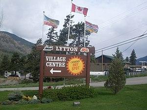 Lytton, British Columbia - Lytton's welcome sign
