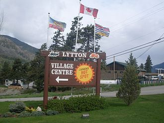 Lytton, British Columbia - Lytton's welcome sign