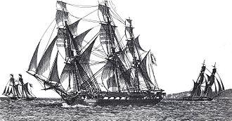 French frigate Méduse (1810) - Image: Méduse Jean Jérôme Baugean IMG 4777 cropped