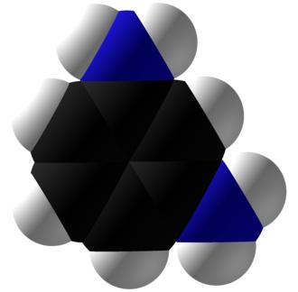 M-Phenylenediamine - Image: M Phenylenediamine Space Fill