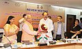 M. Venkaiah Naidu being welcomed by the Chief Minister of Haryana, Shri Manohar Lal Khattar at the Review Meeting of the Ministries of Urban Development, HUPA, at Chandigarh.jpg