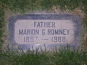 Marion G. Romney - Marion G. Romney's grave marker