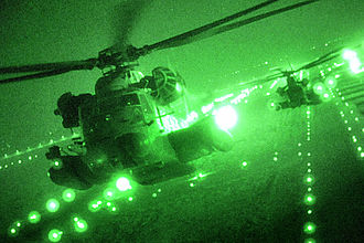 Sikorsky MH-53 - MH-53 Pave Lows fly over Iraq on their last combat missions in September 2008, before their retirement.