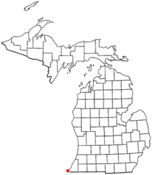 New Buffalo, Michigan - Image: MI Map doton New Buffalo