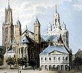 Maastricht Vrijthof ca1860 J Lefebvre.jpg