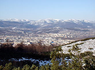 Magadan - Magadan seen from the local mountains
