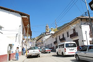 Angangueo - Main street of the town