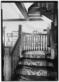 Main Stairway, Close-up of Wood, July 1941. - Springwood, Hyde Park, Dutchess County, NY HABS NY,14-HYP,5-18.tif