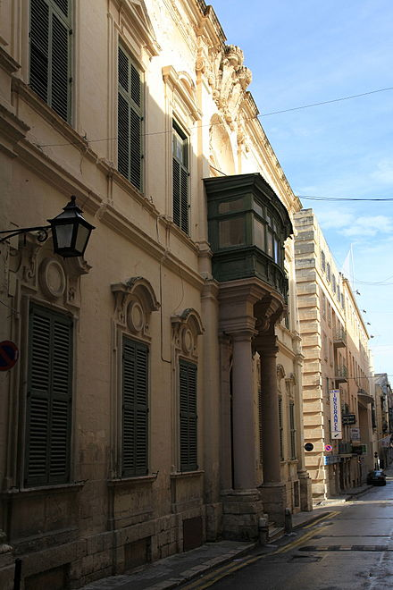 Admiralty House in Valletta, Malta, official residence of the Commander-in-Chief from 1821 to 1961 Malta - Valletta - Triq Nofs-in-Nhar - National Museum of Fine Arts 05 ies.jpg