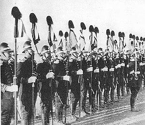 Manchukuo Imperial Guards - Manchukuo Imperial Guard in ceremonial uniform