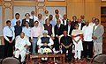 "Manmohan Singh in a group photograph at the release of the book ""Science in India (2004-13) Decade of Achievements and Rising Aspirations"", compiled by 'Scientific Advisory Council to the PM'.jpg"