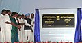 Manmohan Singh unveiling the plaque to lay the foundation stone of the Integrated Refinery Expansion Project of BPCL, in Kochi. The Union Minister for Overseas Indian Affairs, Shri Vayalar Ravi.jpg