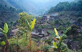 Blang people - The Blang village of Manpo, Xishuangbanna.