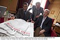 Mansoor Al-Jamri ex Editor-in-Chief of the independent Bahraini daily newspaper Al Wasat with Professor Eoin O'Brien and Professor Damian McCormack.jpg