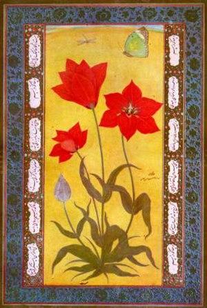 Ustad Mansur - Tulip from Kashmir (c. 1610) by Mansur Naqqash