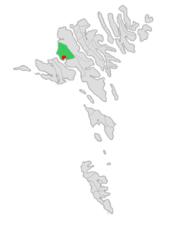 Location of Vestmanna kommuna in the Faroe Islands