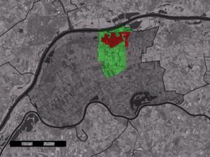 Beneden-Leeuwen - Image: Map NL West Maas en Waal Beneden Leeuwen