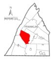 Map of Franklin County, Pennsylvania Highlighting St. Thomas Township.PNG