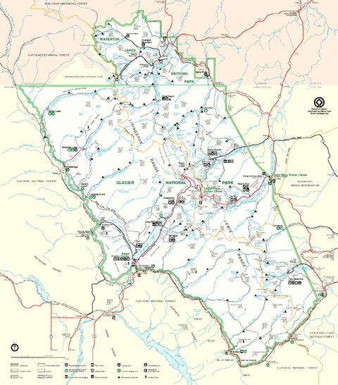 Схема национального парка