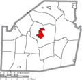 Map of Highland County Ohio Highlighting Hillsboro City.png