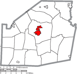 Location of Hillsboro in Highland County
