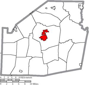 Hillsboro, Ohio - Image: Map of Highland County Ohio Highlighting Hillsboro City